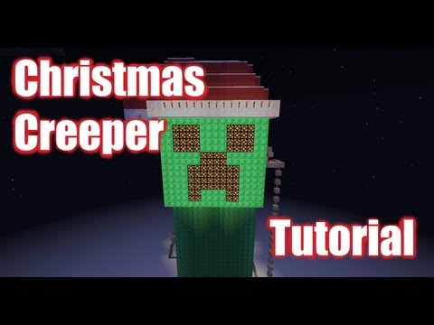 Christmas Creeper (With flashing Christmas lights & a hat!) Tutorial -- Builder's Book