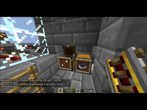 Fully Automatic, Hands Free, Minecart Station (No buttons, pressure plates, ect.) [13w04a]