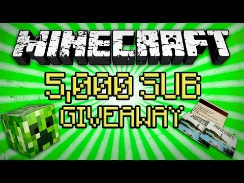 Minecraft 5000 Subscriber GIVEAWAY - Winners♥
