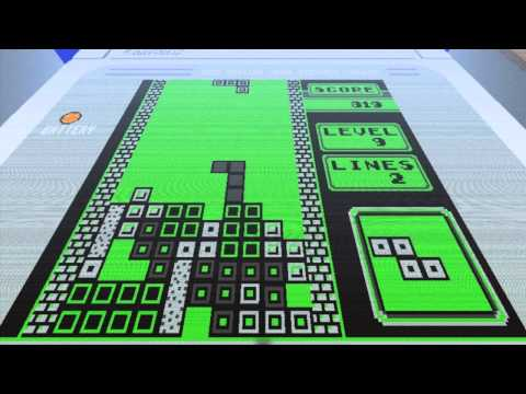 Minecraft Tetris done in stop motion