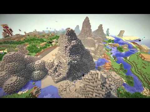 Minecraft: Mountain Village Timelapse - part 1