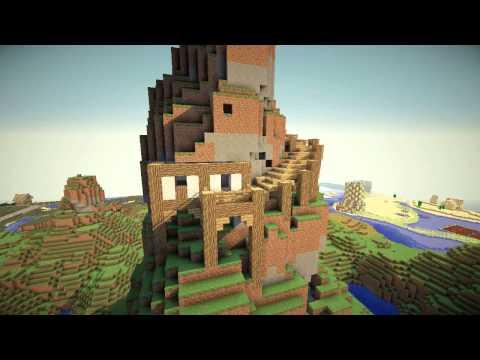 Minecraft: Mountain Village Timelapse -- part 2