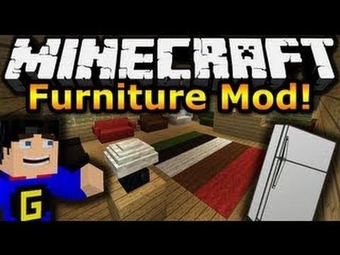 Furniture mod. Скачать мод на мебель для майнкрафт.