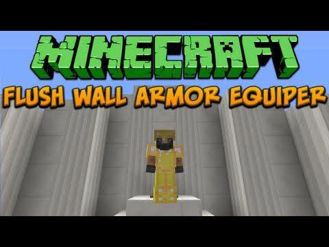 Minecraft: Flush Wall Armor Equiper Tutorial