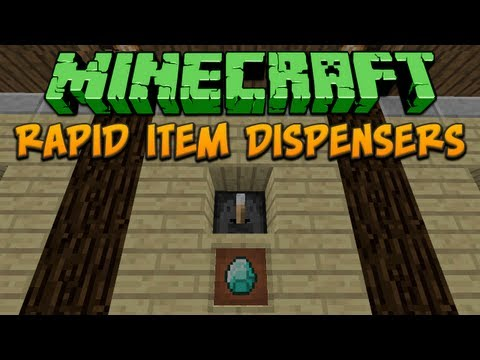 Minecraft: Rapid Item Dispensers Tutorial