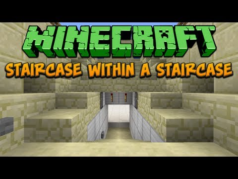 Minecraft: Staircase Within A Staircase Tutorial