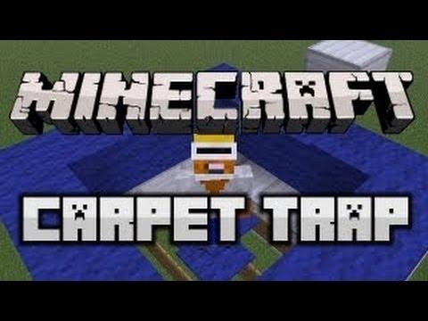 Minecraft 1.6 Tutorial: SUPER HIDDEN CARPET TRAP!