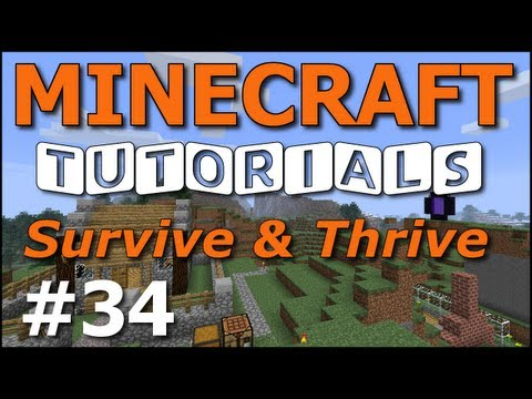 Minecraft Tutorials - E34 Spiral Staircase Tower (Survive and Thrive II)