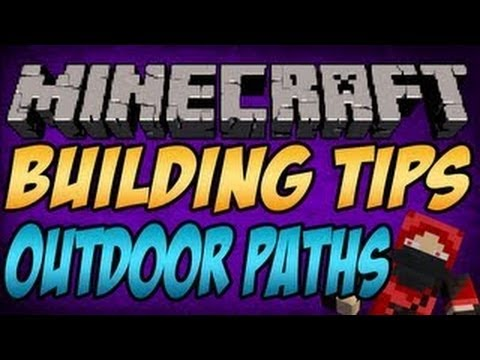 Minecraft Building Tips: Simple Outdoor Paths