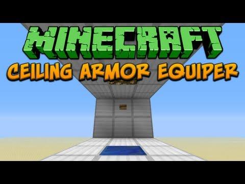 Minecraft: Ceiling Armor Equiper Tutorial