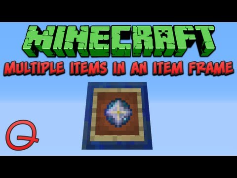 Minecraft: Multiple Items In An Item Frame (Quick) Tutorial