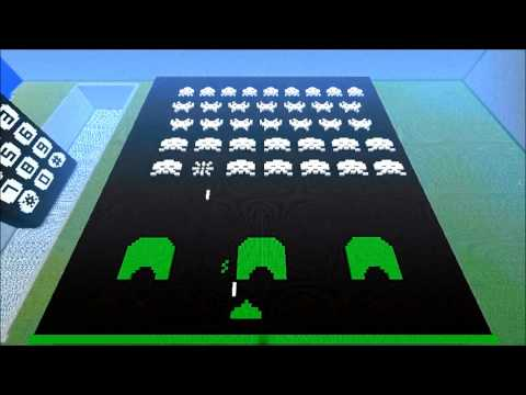 Minecraft Space Invaders done using stop motion