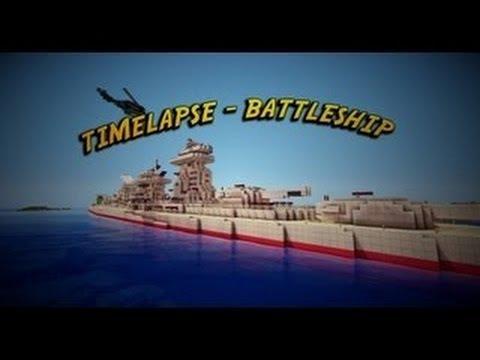 MINECRAFT BATTLESHIP BUILD TIMELAPSE
