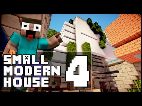 Minecraft - Small Modern House 4 & RollerCoaster!