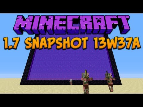 Minecraft 1.7: Snapshot 13w37a: Portals & Micro Blocks!