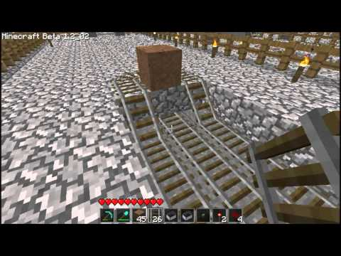 Minecraft Redstone activated minecart booster