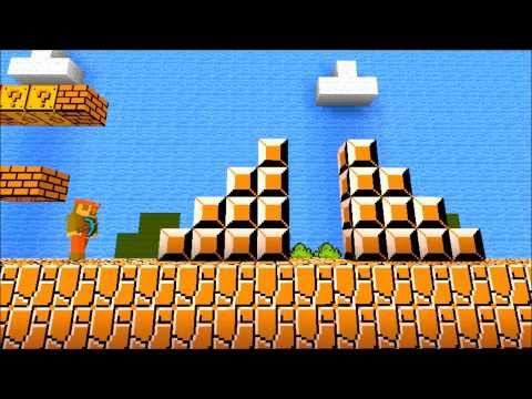 Minecraft Mario Bros. first level 1-1