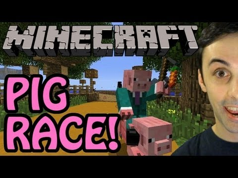MINECRAFT PIG RACE!