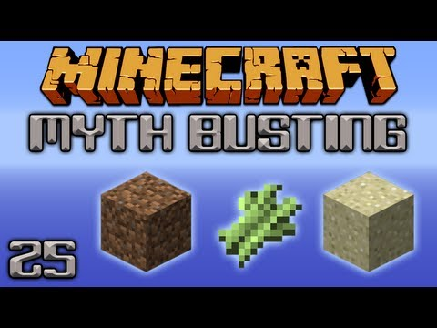 Does Sugarcane Grow Faster On Dirt Or Sand? [Minecraft Myth Busting 25]
