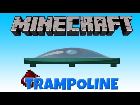 """Minecraft Videos """" Blog Archive """" Minecraft Vanilla Creation: WORKING TRAMPOLINE!"""