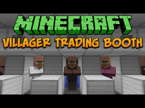Minecraft: Villager Trading Booth (Tileable) Tutorial
