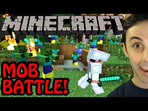MASSIVE MINECRAFT MOB BATTLE!?