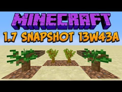 Minecraft 1.7: Snapshot 13w43a New Trees & Better Boats
