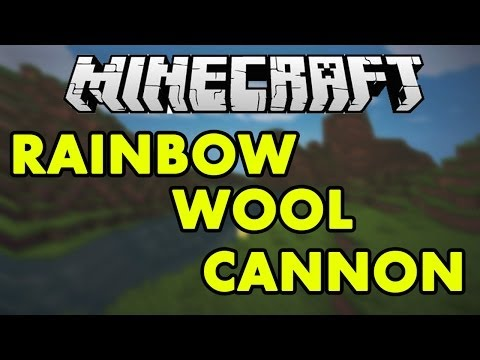 Minecraft Rainbow Cannon (With Redstone & Command Blocks)