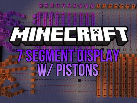 Minecraft Tutorial: 7 Segment Display w/ Pistons - Part 2
