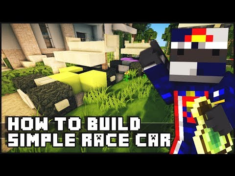 Minecraft Vehicle Tutorial - Small Simple Race Cars