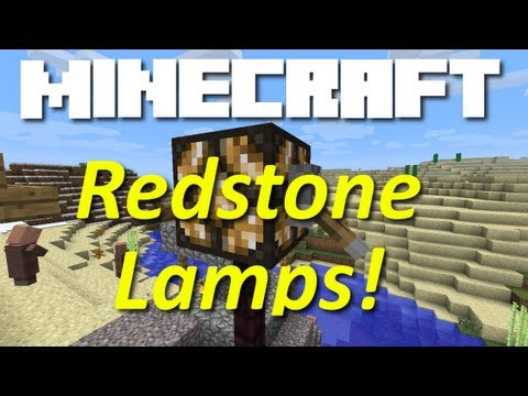 Minecraft Snapshot 12w07b (Redstone Lamp, Zombies Eat Villagers!)