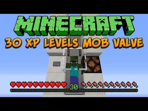 Minecraft: 30 XP Levels Mob Valve Tutorial
