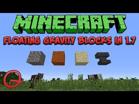 Minecraft: Floating Gravity Blocks In 1.7 (Quick) Tutorial