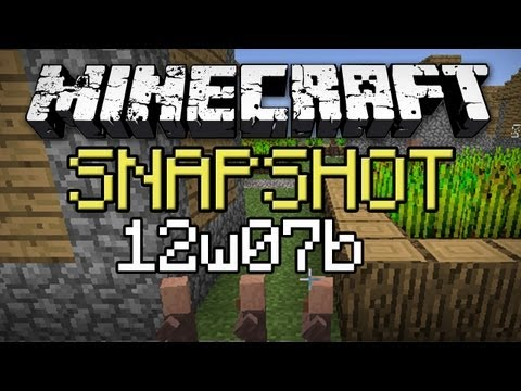 Minecraft: Snapshot 12w07b - Mating Testificates, Redstone Lamps, and New Height Limit!