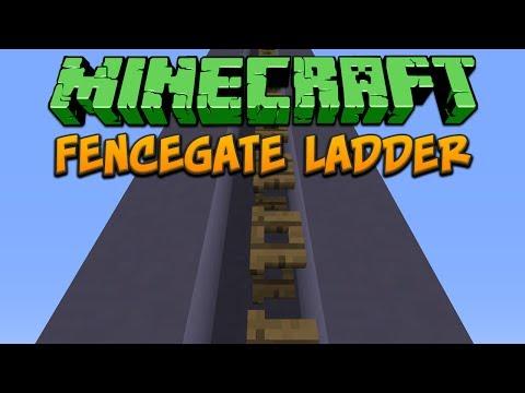 Minecraft: Fencegate Ladder Tutorial