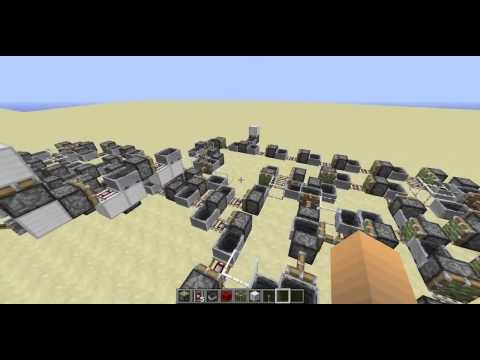 Minecraft Computer: Made with Mine Carts, Rails and Pistons!