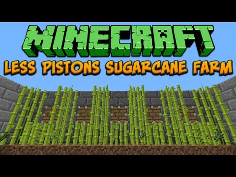 Minecraft: Less Pistons Sugarcane Farm Tutorial