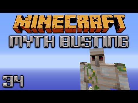 Iron Golem Myths [Minecraft Myth Busting 34]