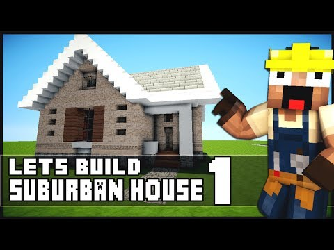 Minecraft small house tutorial keralis house plan 2017 for Keralis modern house 9 part 1