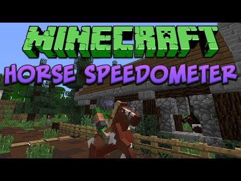 Minecraft: Horse Speedometer Tutorial