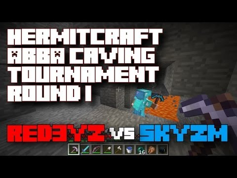 Round 1:  Red3yz vs Skyzm - Hermitcraft ABBA Caving Tournament - Minecraft