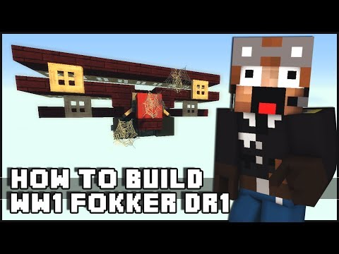 Minecraft Vehicle Tutorial - WW1 Fokker DR1 Triplane