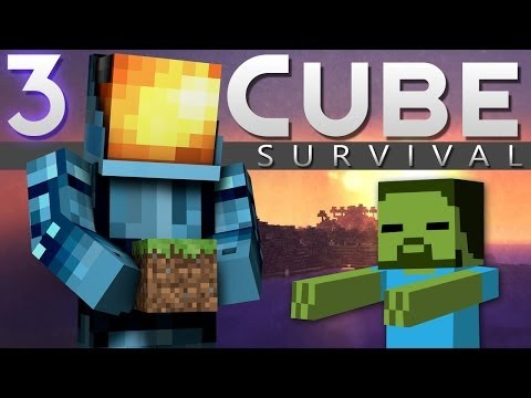 Minecraft: Cube Survival Playthrough! Ep. 3 - How to NOT Dungeon!