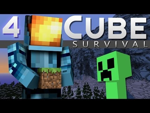 Minecraft: Cube Survival Playthrough! Ep. 4 - Creepers Galore!