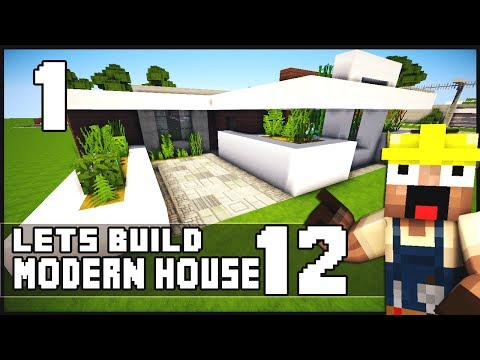 Minecraft Lets Build Modern House 12