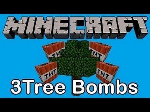 Minecraft 3 TNT TREE TRAPS [TUTORIAL]