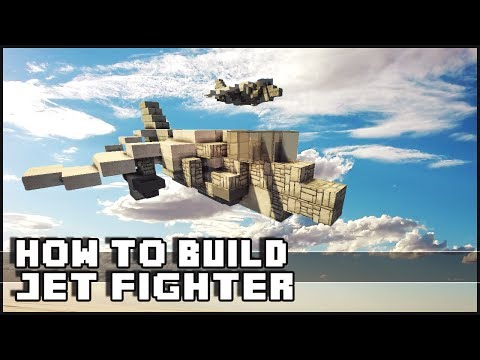 Minecraft Vehicle Tutorial - How to Build : Harrier Jet Fighter