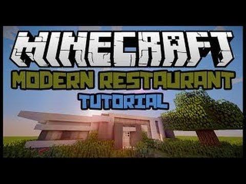 Minecraft Building Tips: Modern Restaurant TUTORIAL