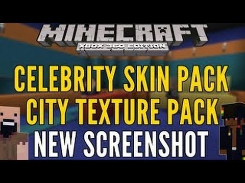 Minecraft XBOX PS3  CELEBRITY SKIN PACK ! & CITY TEXTURE PACK NEW Screenshot