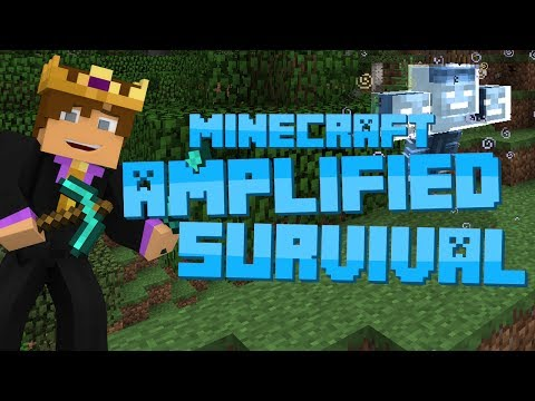 Minecraft: Amplified Survival #12 - WITHER BOSS BATTLE FAIL!